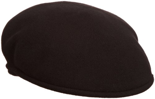 Kangol 504 Wool Cap Hat (Kangol 504 Wool Earlap Hat,Black,L US)