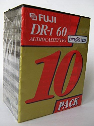 Fuji DR-I Audio Cassettes Extra Slim Case 10 Pack by Fuji