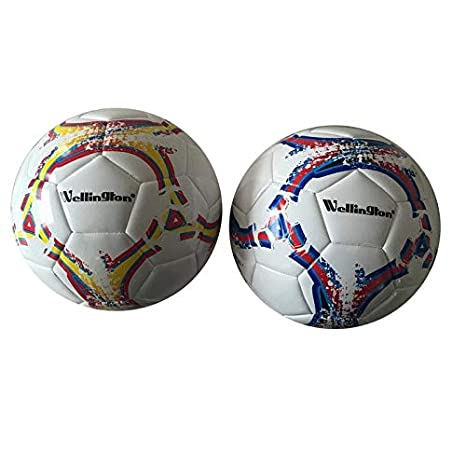 Wellington Balón de Futbol de Cuero 22cm Pelota: Amazon.es ...