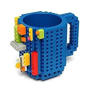 Build-On Brick Mug Lego Type Creative DIY Building Blocks Coffee Cup Water Bottle Puzzle Toy Mug Desk Ornament Christmas Gift