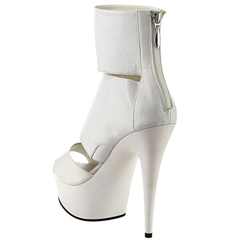 Pleaser DELIGHT-600-16 Wht Pu/Wht Size UK 7 EU 40