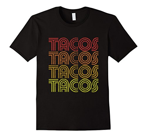 [Men's Vintage Taco Tuesday shirt Retro Tacos t-shirt  3XL Black] (80s Costumes For Family)