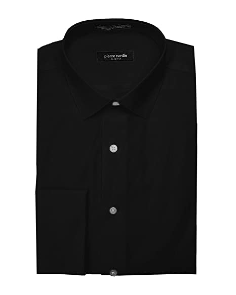 Pierre Cardin Men S Slim Fit French Cuff Solid Dress Shirt At Amazon
