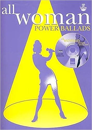 All Woman: Power Ballads (Piano/Vocal/Guitar), Book & CD