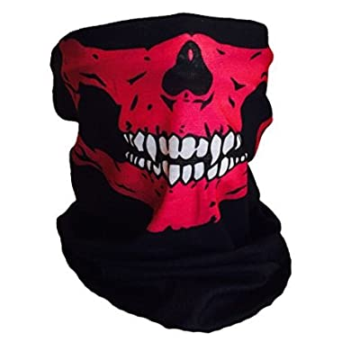 Halloween Skull Mask Pink White Fangs Face Mask Tube Bandana Balaclava Snowboard Harley Davidson Snowboard Ski Mask Multi Function Tactical Seamless