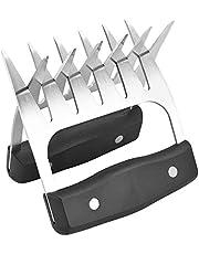 Meat Shredding Claws, Stainless Steel Pulled Pork Shredding BBQ Forks Claws for Handling, Lift, Shredding - Ultra-Sharp Blades