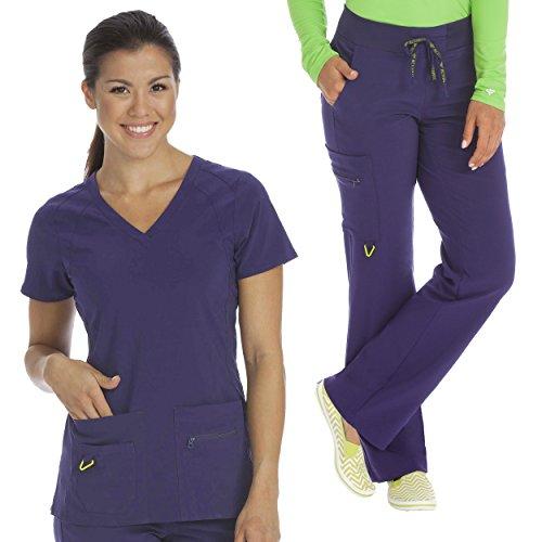 8c249ce207e Med Couture Activate Women's Refined Scrub Top & Transformer Cargo Scrub  Pant Set [XS -