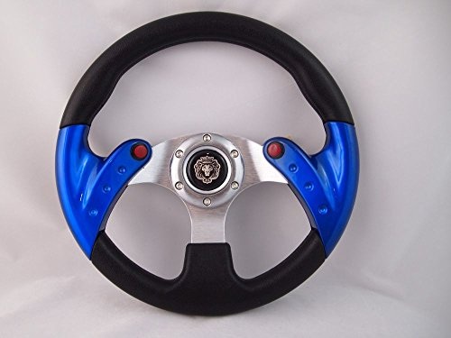 New World Motoring RED Steering Wheel with Adapter for RZR 570 800 900 1000