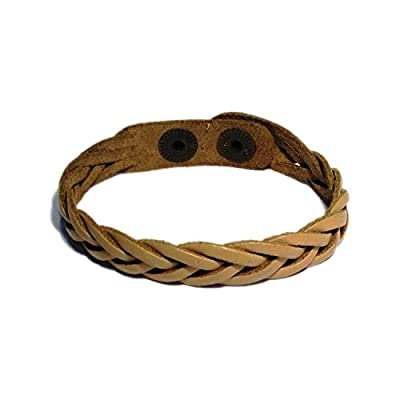 AUTHENTIC HANDMADE Leather Bracelet, Men Women Wristbands Braided Bangle Craft Multi [SKU001967]
