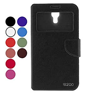 Buy Contracted Design Style Solid Color PU Leather Case for Samsung Galaxy Mega 6.3 I9200 (Assorted Colors) , Rose