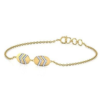 Buy Caratlane 18KT Yellow Gold and Diamond Bracelet for Women