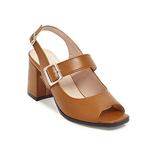 Brown Marrone Donna SLC04200 Ballerine EU AdeeSu 35 IPTwqtnnx