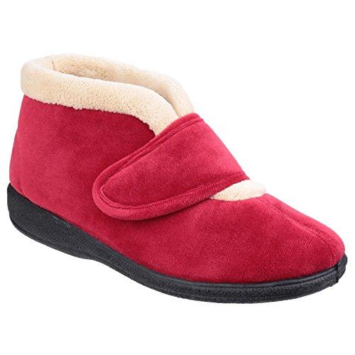 Slippers Touch amp; Levitt Red Fleet Foster Fasten Ladies Womens wPAwOqxa