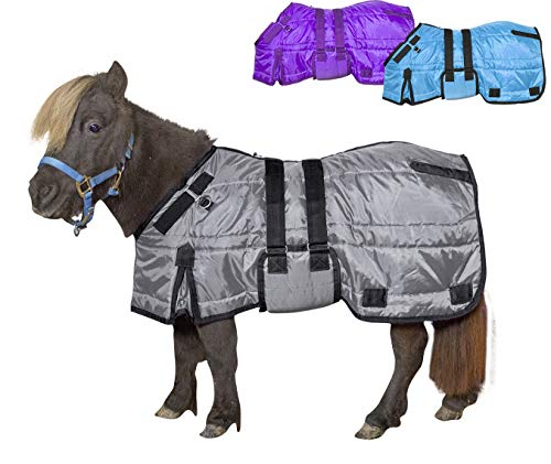 Derby Originals Windstorm Series Premium Mini Horse and Pony Winter Stable Blanket with 420D Breathable Nylon Exterior - Medium Weight 200g Polyfil Insulation - Miniature Horse Blankets