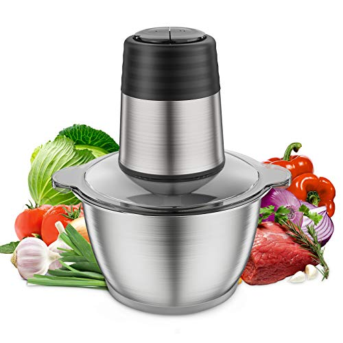 Electric Food Chopper,Kuopry Electric Meat Grinder 350W for Kitchen Meat, Vegetables, Fruits and Nuts with 4 Titanium…