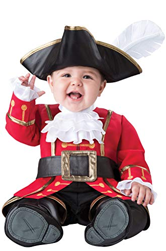 InCharacter Captain Cuteness Infant Costume-Small (6-12) Red]()