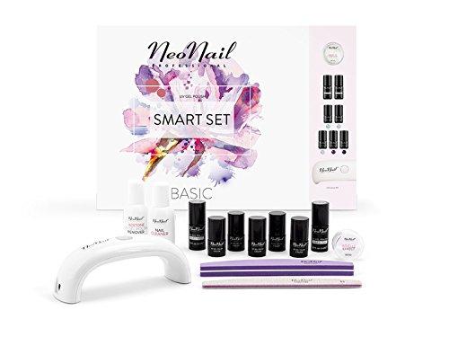 NeoNail Geschenkbox Starter Set 5x Colour 3ml uv Nagellack LED Lampe 9W Base Top Cleaner + mehr zubehör im Geschenkset