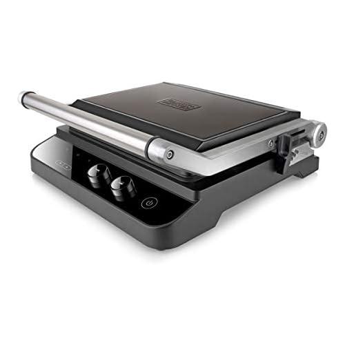 chollos oferta descuentos barato Black Decker BXGR2000E Parrilla Electrica 2000 W Acero Inoxidable Anti Huellas Negro