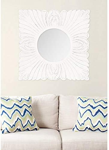 Safavieh Home Collection Acanthus Mirror, White