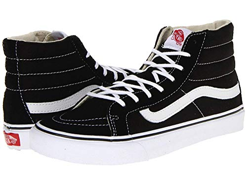 Vans Unisex Sk8-Hi Slim Black/True White VN000QG36BT Mens 7.5, Womens - Hi Tops Vans