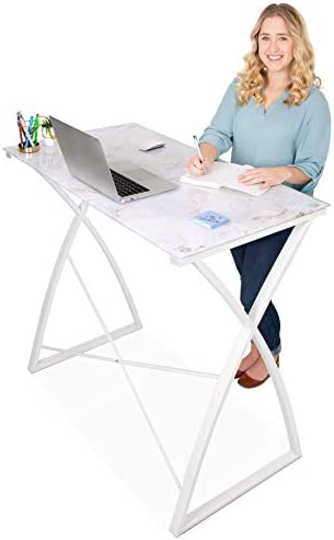 Stand Steady Joy Desk | Multifunctional Standing Table | Modern Glass Top