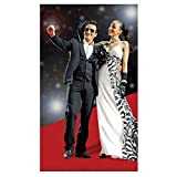 Amscan Movie Night Hollywood Themed Party Long Red Carpet Aisle Runner Decoration, Felt, 40 Feet x 36 Inches