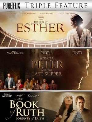DVD - Triple Feature: Esther/Apostle Peter & Last Supper/Book Of Ruth (3 DVD) by
