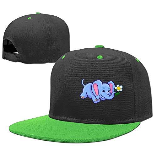 RGFJJE Gorras béisbol Baseball Caps Hip Hop Hats Elephant Sunflower Boy-Girl