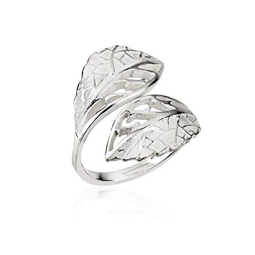 leaf ring sterling silver - 8
