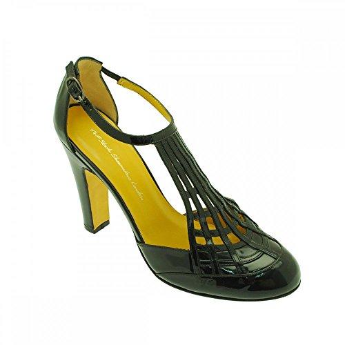 vestir mujer de para T patent black negro Slack negro Sandalias negro amp;f IpqUF