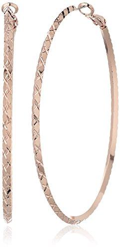 GUESS Womens Diamond Hoop Earring