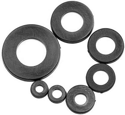 CHENHAN Flat washers 364pcs//Set Black Nylon Rubber Flat Ring Repair Washer Gasket for Metric M2-M8 Hard