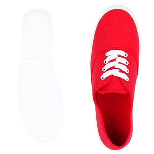 napoli-fashion - Zapatillas Mujer rojo/blanco