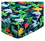 SheetWorld Fitted Cradle Sheet 18 x 36 - Dinosaurs - Made in USA