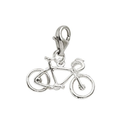 Rembrandt Charms Bicycle Charm with Lobster Clasp, 14k White Gold