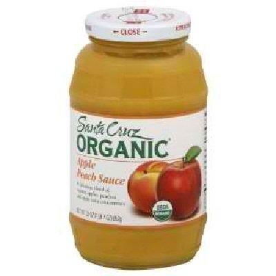 Santa Cruz Organic Apple Peach Sauce, 23 Ounce -- 12 per case.