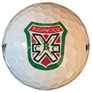 Caddyshack Style Sleeve of THREE Bushwood Country Club Logo White Golf Balls