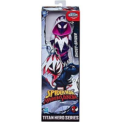 Spider-Man Marvel Bundle of 3 Titan Hero Series Maximum Venom 12-inch Action Figures Miles Morales, Ghost-Spider, Venom: Toys & Games