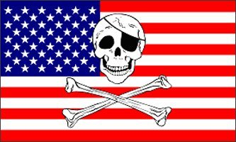 (3'x5' Jolly Roger American Pirate Flag, America us USA Skull Bones Patriot Patriots)