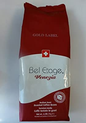 illy cafe AG - 2 Bags - Bel Etage Venezia Gold Label Whole Bean Coffee 1kg or 2.22lbs each