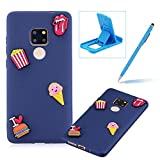 Soft TPU Case for Huawei Mate 20,3D Silicone Cover for Huawei Mate 20,Herzzer Candy Color Series Cute Snacks Design Soft Gel Durable Slim Fit Flexible Scratch-Resistant Rubber Bumper Case