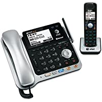 AT&T TL86109 Two-Line DECT 6.0 Phone System W/ Bluetooth Headset & Hearing Aid Compatible