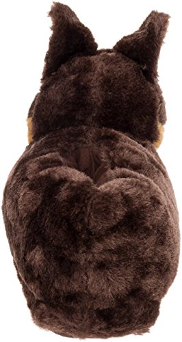 Silver Lilly German Shepherd Slippers - Plush Dog Slippers w/Platform by (Brown/Tan/Black, Medium) by Silver Lilly (Image #3)