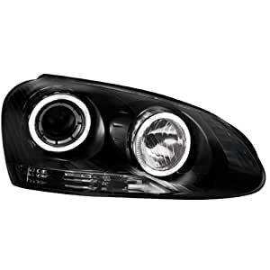 In.pro. lighting 43063 - Fs delanteros para Golf V y Jetta V con anillos de luces de posición, color transparente y negro
