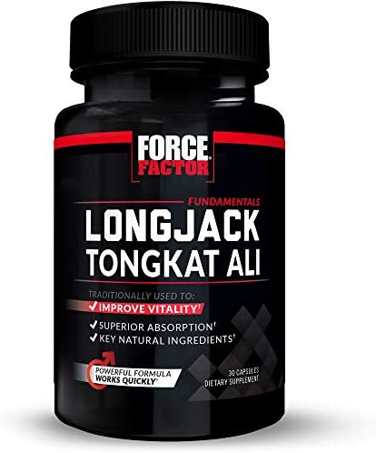 Force Factor Fundamentals Longjack Tongkat Ali 500 mg, 30 Count