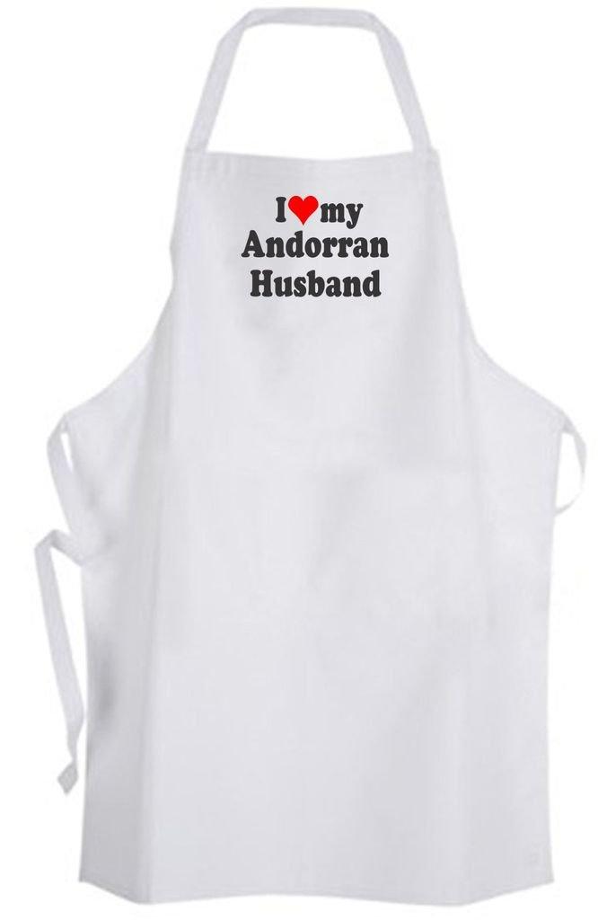 I Love my Andorran Husband – Adult Size Apron – Wedding Marriage Wife