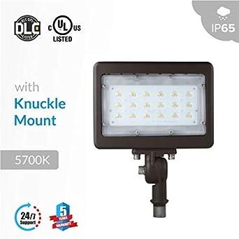 50W OUTDOOR Yoke mount LED FLOOD LIGHT 5000K ETL /& DLC APPROVED  IP65