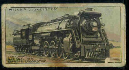 canadian-national-railways-express-1930-wills-cigarettes-railway-locomotives-33-poor-creased