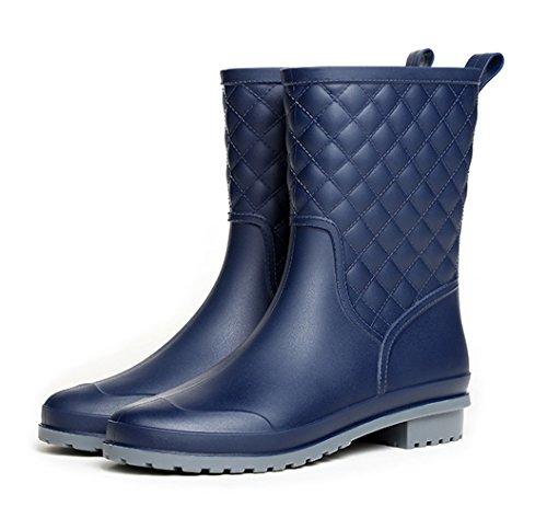 Block Rain Heel Womens Boots Magone Fashion Rain Navy Shoes 76zqxH