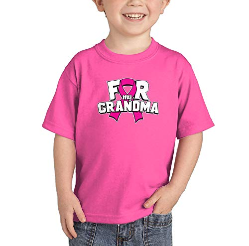 (HAASE UNLIMITED for My Grandma - Breast Cancer Ribbon Infant/Toddler Cotton Jersey T-Shirt (Pink, 24 Months))
